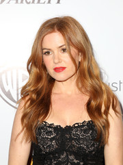 Isla Fisher was gorgeously coiffed with cascading waves at the Australians in Film Awards Gala.