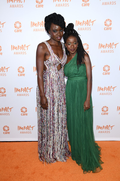 Amanda Gorman looked divine in a green one-shoulder gown at the CARE Impact Awards.