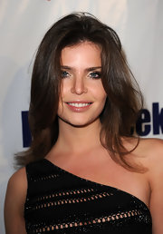 Julia Lescova showed off her mid-length straight locks while hitting Brit Week in West Hollywood.
