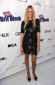 E! correspondent Ashlan Gorse showed off her star style while appearing at Brit Week in a sequin cocktail dress.