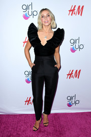 Julianne Hough donned a black ruffle-sleeve top from the H&M Conscious collection for the 2019 Girl Up #GirlHero Awards.