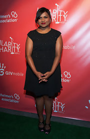 Mindy Kaling chose this sparkly LBD to wear to the Hilarity for Charity event in NYC.