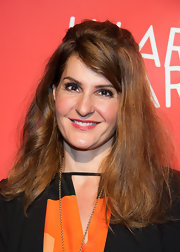 Nia Vardalos chose a half up, half down 'do at the Hilarity for Charity even in Hollywood.
