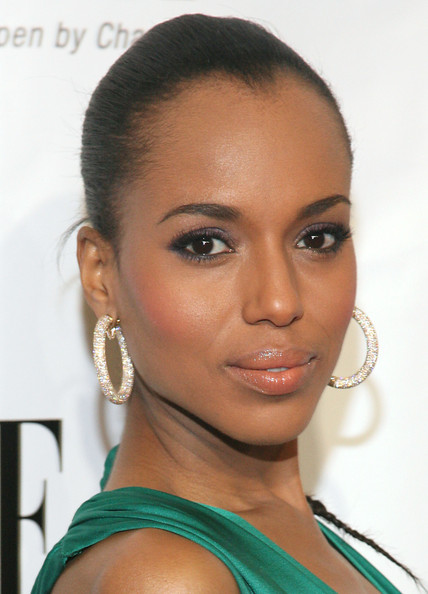 More Pics of Kerry Washington Diamond Hoops (1 of 10) - Kerry Washington Lookbook - StyleBistro