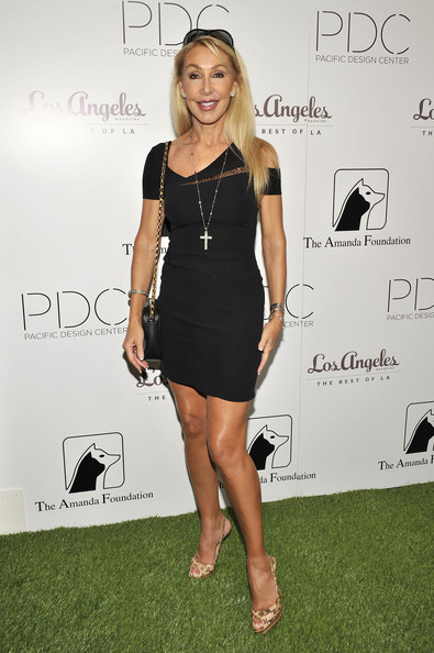 Linda Thompson was sexy as usual in a barely-there LBD with sultry peek-a-boo details.