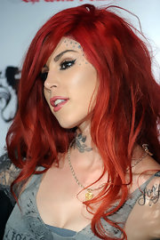 Famed tattoo artist Kat Von D has several uncharacteristically girly stars inked on her brow.