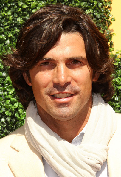 Nacho Figueras sported a thick curly hairstyle at the Veuve Clicquot party.