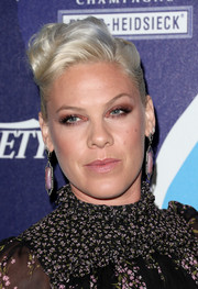 Pink attended the unite4:humanity event rocking a wavy pompadour.