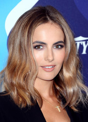 Camilla Belle wore heavy eye makeup in neutral shades when she attended the unite4:humanity event.
