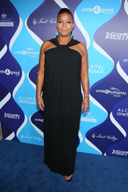 Queen Latifah donned a diva-glam halter gown for the unite4:humanity event.