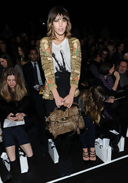 With a Mulberry bag in tote, Alexa prepared to take her seat the Philip Lim Fall 2010 Fashion Show. As a spokeswomen for the brand, Alexa always finds a way to work their bags into her ensemble.