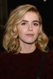 Kiernan Shipka wore beach-chic waves at the 3.1 Phillip Lim fashion show.