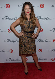Sabrina Soto chose a sleeveless leopard-print dress for the 3.1 Phillip Lim for Target launch event.
