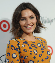Alyssa Miller looked youthful and pretty with her short wavy cut at the 3.1 Phillip Lim for Target launch.
