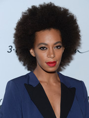 Solange Knowles kept it natural with this Afro at the 3.1 Phillip Lim for Target launch event.