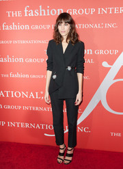 Alexa Chung opted for a stylish black pantsuit by Christopher Kane when she attended the Annual Night of Stars.