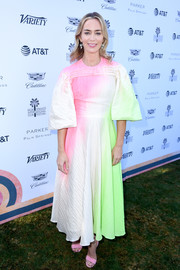 Emily Blunt brought a rainbow of colors to Variety's Creative Impact Awards with this ombre dress by Roksanda.
