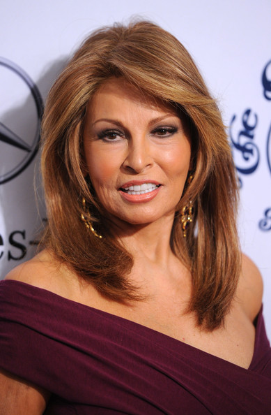 Raquel Welch's Layered Hairstyle - Haute Hairstyles for Women Over 50 ...
