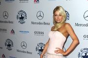 Paris Hilton Wears a Pink Couture Gown