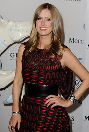 Nicky Hilton attended The 32nd Anniversary Carousel of Hope Gala wearing a black onyx and cubic zirconia art deco ring.