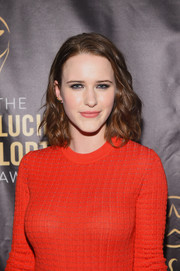 Rachel Brosnahan looked cute with her shoulder-length waves at the Lucille Lortel Awards.