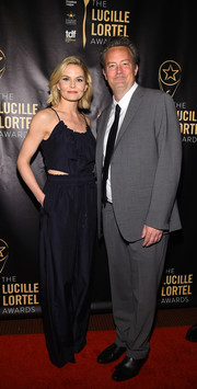 Jennifer Morrison was a cutie in a midnight-blue paperbag-waist jumpsuit by 3.1 Phillip Lim at the Lucille Lortel Awards.