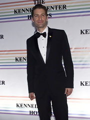Matthew went for a classic black suit and a bow tie for the 33rd Annual Kennedy Center Honors.