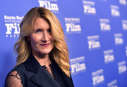 Laura Dern attended the 2020 Santa Barbara International Film Festival wearing her hair in feathery waves.