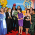Actress Sandra Oh (C) and thhe cast of Sesame Street, winners of the Emmy for Lifetime Achievement Award, pose in the press room at the 36th Annual Daytime Emmy Awards at The Orpheum Theatre on August 30, 2009 in Los Angeles, California.