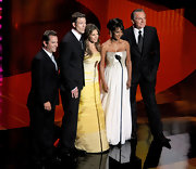 Jillian stepped on stage in a strapless ombre yellow evening gown at the Daytime Emmy Awards.