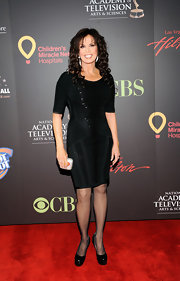 Marie Osmond graced the 38th annual Daytime Emmys in this little black dress. The black on black detailing was extremely eye catching.