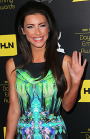 Jacqueline MacInnes Wood wore a retro-chic high-volume 'do at the Daytime Emmy Awards.