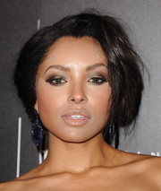 Kat Graham attended the Gracie Awards sporting a mussed-up hairstyle.