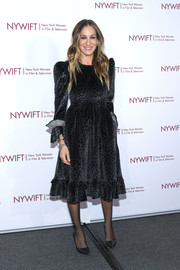 Sarah Jessica Parker donned a leopard-print velvet dress by Batsheva for the Muse Awards.