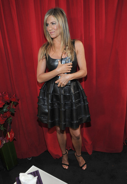 More Pics of Jennifer Aniston Leather Dress (4 of 26) - Jennifer Aniston Lookbook - StyleBistro