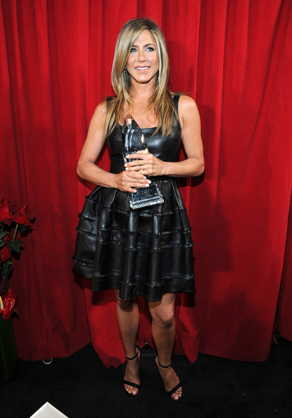 More Pics of Jennifer Aniston Leather Dress (5 of 26) - Jennifer Aniston Lookbook - StyleBistro