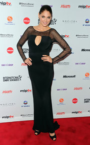 The sheer sleeve detailing on Bianca Soto's slinky black dress was stunning.