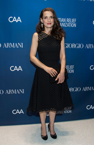Winona Ryder looked ageless in a fit-and-flare mesh-overlay LBD at the Help Haiti Home Gala.