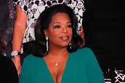 Oprah Winfrey wore an exquisite pair of dangling turquoise earrings to the Diane Von Furstenberg Awards.