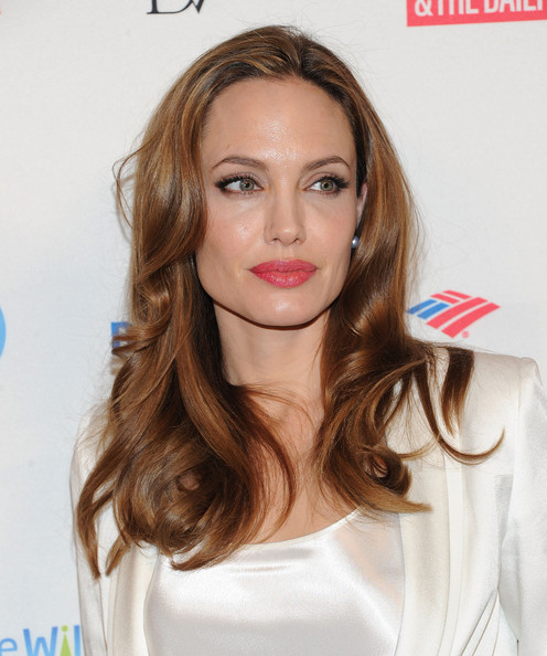 More Pics of Angelina Jolie Long Wavy Cut (5 of 21) - Angelina Jolie Lookbook - StyleBistro
