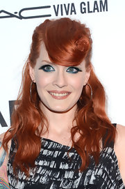Ana's heavy feathery false lashes and jewel-toned shadow made a dramatic statement at the 3rd Annual amfAR Gala in NYC.