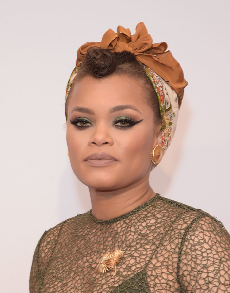 Andra Day attended the Gracie Awards wearing her signature cat eye.