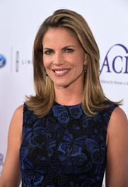 Natalie Morales wore her hair in a stylish flip at the Gracie Awards.