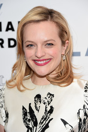Elisabeth Moss looked youthful with her wispy waves at the Chaplin Award Gala.