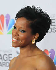 Regina King wore her short hair slicked back with a side-part at the NAACP Image Awards.