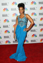 Anika Noni Rose brought the va-va-voom in this sky blue gown at the NAACP Image Awards.