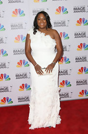 D'Angela Proctor wore this angelic white gown to the NAACP Image Awards.