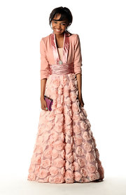 China Anne McClain's cute smile and pink gown were captured by the press at the NAACP Image Awards.