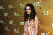 Actress Leighton Meester attends the 44th Annual CMA Awards at the Bridgestone Arena on November 10, 2010 in Nashville, Tennessee.