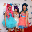 Zonnique Jailee Pullins, Bahja Shamoni Rodriguez, and Breaunna Merkell Womack at the 44th Annual NAACP Image Awards 2013